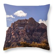 Warm Light In Red Rock Canyon Throw Pillow