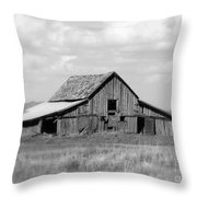 Warm Memories - Black And White Throw Pillow