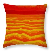 Warm Seascape Throw Pillow