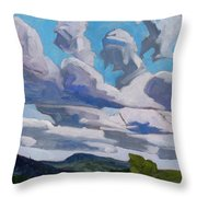 Warm Sector Streets Throw Pillow
