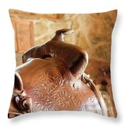 Warm Soft Brown Throw Pillow