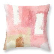 Warm Spring 2- Abstract Art By Linda Woods Throw Pillow by Linda Woods