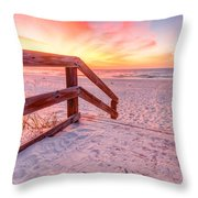 Warm Sunrise Throw Pillow