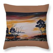 Warm Sunset  Throw Pillow