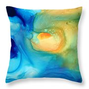 Warm Tides - Abstract Art By Sharon Cummings Throw Pillow