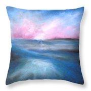 Warm Tides Throw Pillow