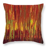 Warm Tones Throw Pillow