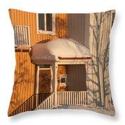 Warm Vinter Facade Throw Pillow