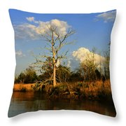Warm Weather Clouds Throw Pillow