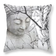 Warm Winter's Moment Throw Pillow