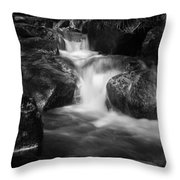 Warme Bode, Harz - Monochrome Version Throw Pillow
