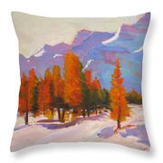 Warming The Winter Throw Pillow
