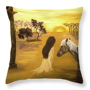 Warmth Of Contentment  Throw Pillow