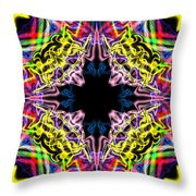 Warp Flower Throw Pillow