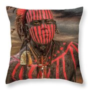 Warpath Shawnee Indian Throw Pillow by Randy Steele