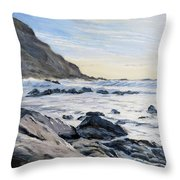 Warren Point Sunset Duckpool Throw Pillow