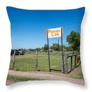 Warrenton Texas Antique Days Park Here Throw Pillow