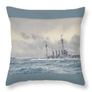 Warrior After The Battle Of Jutland Throw Pillow