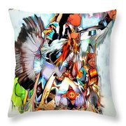 Warrior Dance Throw Pillow