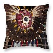 Warrior Feathers Throw Pillow