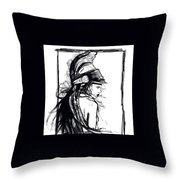 Warrior Girl 1 Throw Pillow