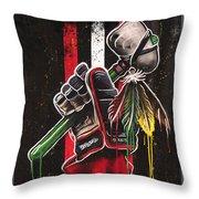 Warrior Glove On Black Throw Pillow