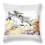 Warrior On White Horse Throw Pillow