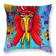 Warrior Spirit Throw Pillow by Vickie Scarlett-Fisher