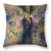 Warrior Woman Lean In Throw Pillow