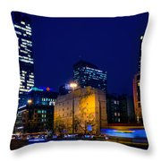 Warsaw Downtown Throw Pillow by Tomasz Dziubinski