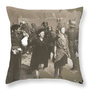 Warsaw Ghetto Uprising Number 2 1943 Color Added 2016 Throw Pillow