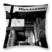Warsaw To Berlin Frame 2 Throw Pillow