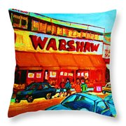 Warshaws Fruitstore On Main Street Throw Pillow