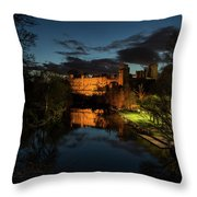 Warwick Castle At Night Throw Pillow