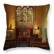 Warwick Castle Chapel Throw Pillow by Chris Lord
