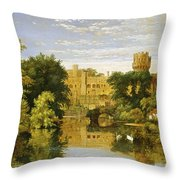 Warwick Castle Throw Pillow