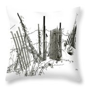 Was Once A Fence... Now Retired Throw Pillow