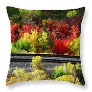 Wasatch Fall Throw Pillow