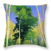 Wasatch Mountain Jungle Throw Pillow by David King