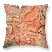 Wash 3 Of Valley Of Fire Throw Pillow
