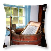 Washboard Throw Pillow by Susan Savad