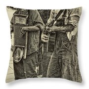 Washboard Symphony Throw Pillow