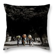 Washday In Accra Throw Pillow