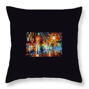 Washed City Throw Pillow
