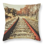 Washed Out Lines Throw Pillow
