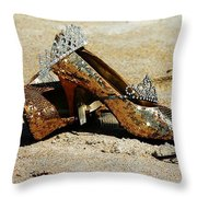 Washed Out Queen Throw Pillow