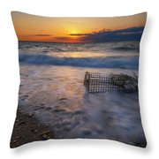 Washed Up Crab Cage 16x9 Throw Pillow