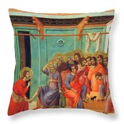 Washing Of Feet 1311 Throw Pillow