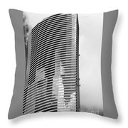 Washing The Tower Throw Pillow