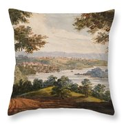Washington And Georgetown From The Alexandria Road Throw Pillow